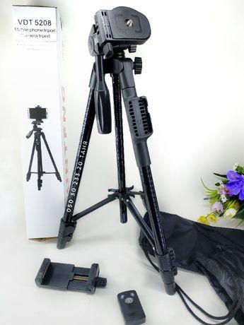 Штатив для телефона камеры высокий крепкий - трипод+чехол+пульт