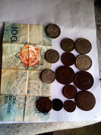 Coleções moedas e nota