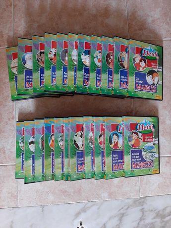 Vendo 22 DVDs de animação Marco e Heidi (novos)