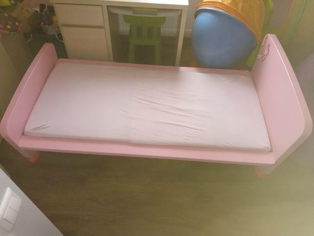Łóżko Ikea Mamut różowe+stelaż+materac