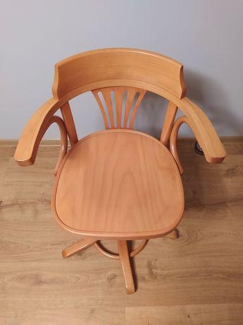 Krzesło drewniane obrotowe do biurka