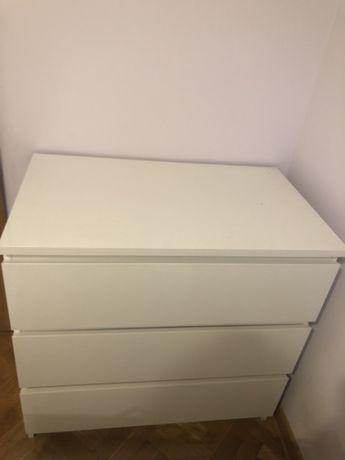 REZERWACJA Komoda biała malm ikea 3 szuflady