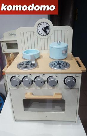 Kuchnia dla dzieci drewniana zestaw garnków dostępna od ręki ostatnia