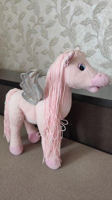 Мягкая игрушка лошадка Пегас музыкальная 32 см