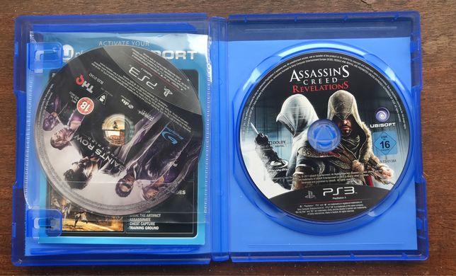 Jogos PS3 - AC Revelations e Saints Row 3