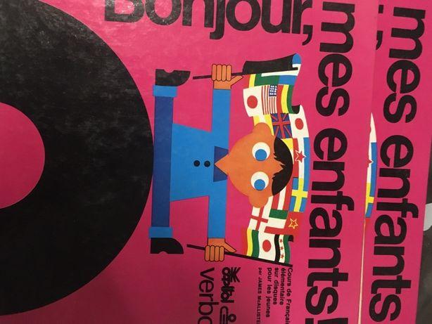 Livro infantil antigo com discos vinil