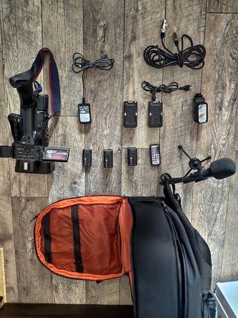 Sony HDR-AX2000E, камера, видекамера, микрофон, комплект