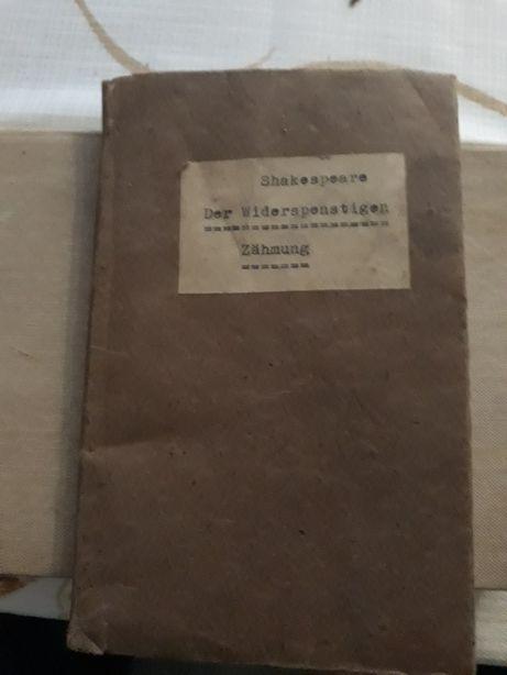 1936r! Shakespeare pisany gotykiem.Poskromienie złośnicy Stara książka