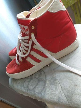 Adidas buty czerwone adidasy za kostkę trampki sneakersy