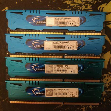 DDR3 Gskill Ares 1600mhz C9 4x4GB - Total 16GB