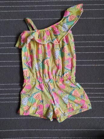 Kombinezon letni bawełniany rozmiar 128 cena 10 zł