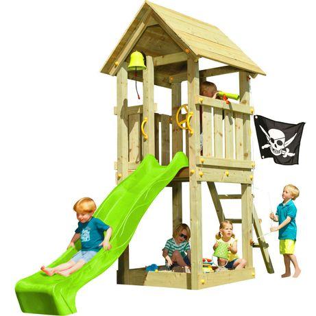 Детская игровая площадка KBT Blue Rabbit KIOSK домик с горкой Зеленый