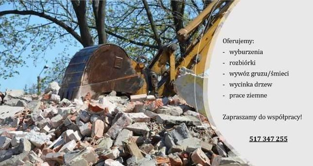 Wyburzenia, rozbiórki, wywóz gruzu, wycinka drzew, prace ziemne!