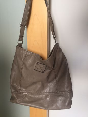 H&M torebka, torba shopper, worek, beż, szary