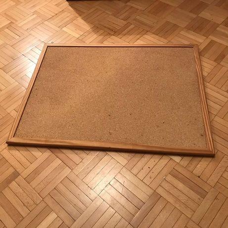 Tablica Korkowa, do przyczepianych notatek, Z KORKA, rama drewno