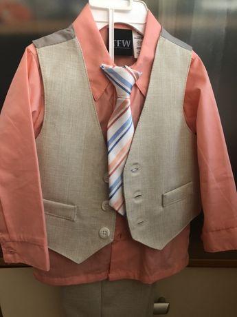 Стильный костюм для мальчика на годик, костюм тройка