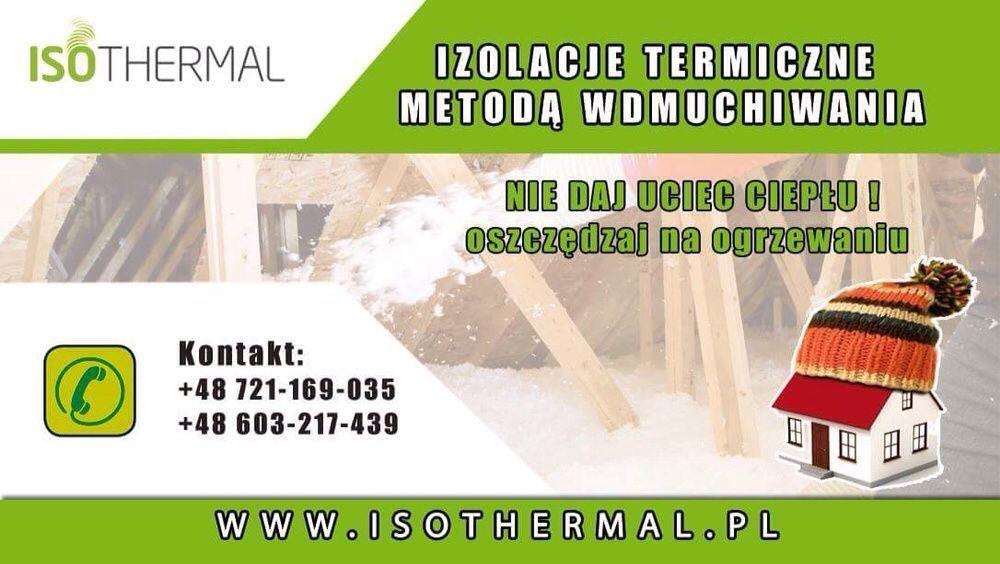 Izolacje termiczne metoda wdmuchiwania docieplenia celuloza, wełna Warszawa - image 1