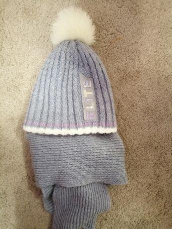 Шапка з шарфиком, зима
