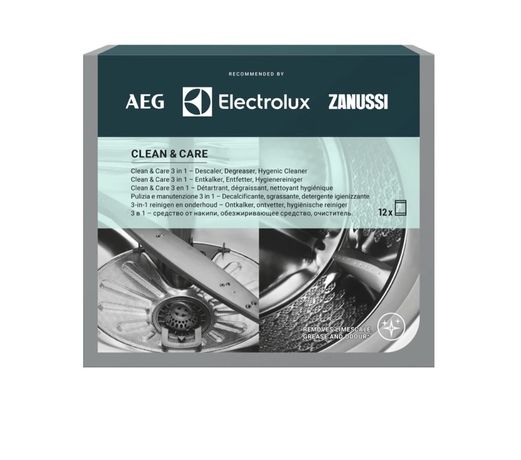Saquetas desengordurantes Electrolux Clean and Care 12x