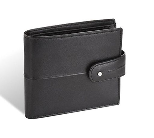 Samsonite skórzany portfel męski RFID, czarny, z klipsem NOWY