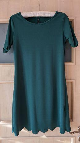 Sukienka mini zielona święta S ciekawa Shein