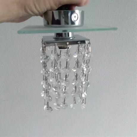 Zestaw 4 sztuki nowych sufitowych lamp z kryształkami