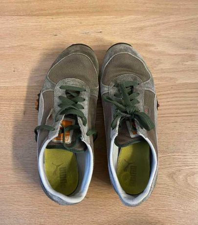 Sapatilhas castanhas e verdes (tamanho 41-42) - Puma