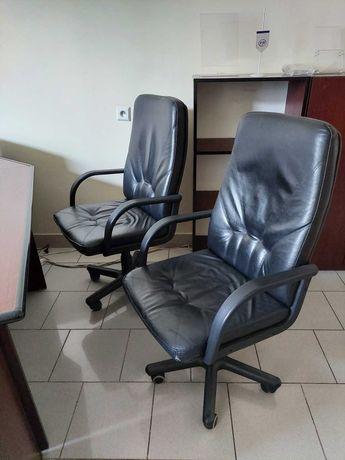 Fotel biurowy, skórzany - 2 szt.