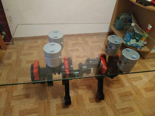 Кофейный стол из автомобильных запчастей