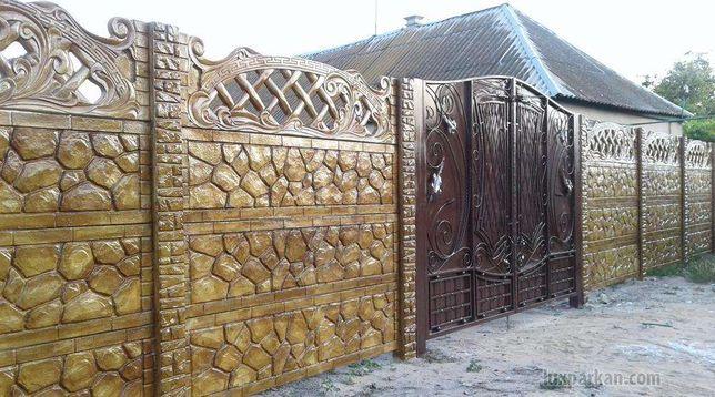 глянцевый бетонный забор