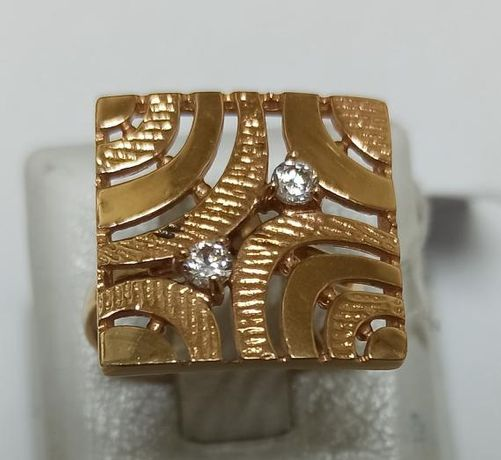 Кольцо из красного золота с цирконием (12664487) (12664487)