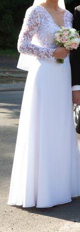 Biała suknia ślubna 36/38, 700 zł okazja