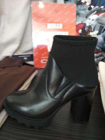 Новые итальянские кожаные ботинки Laura Bellariva