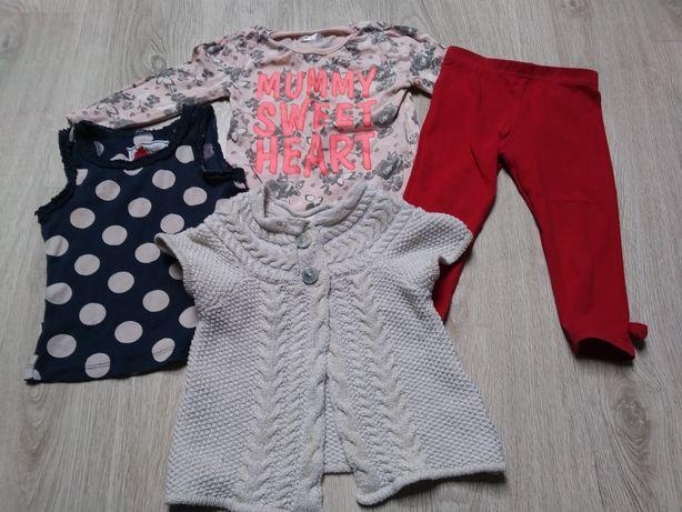 Ciuszki ubranka dziewczynka 80