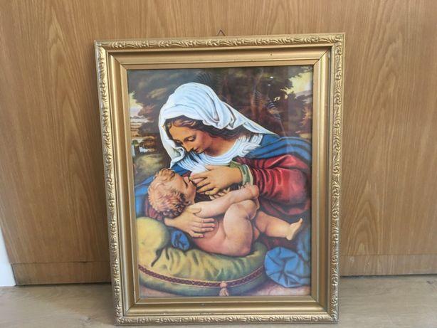 Obraz święty w złotej ramie