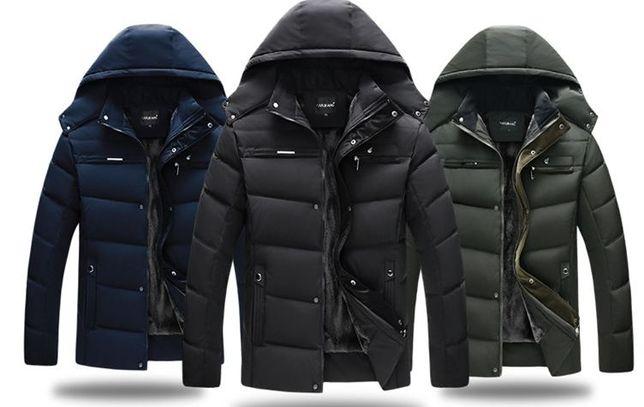 Экстремально тёплая мужская зимняя куртка. 3 цвета. Размеры 46-52