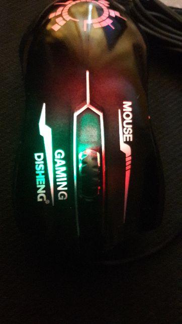 Игровая мышь для ноутбуков D1 глянцевая с подсветкой