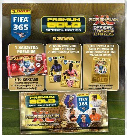 karty FIFA 365 saszetka Premium Gold limited messi morata