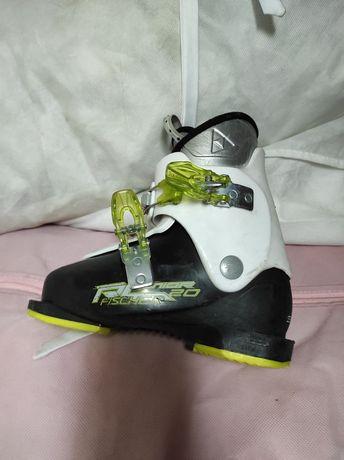 Детские лыжные ботинки fisher 200-205 (30-31 ) размер 7-8 лет