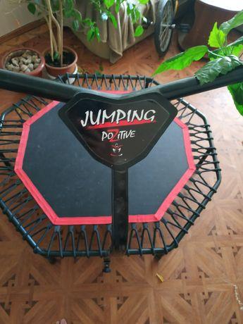 Батут с ручкой для фитнеса Батут для фитнеса JumpingPozitive с ручкой.