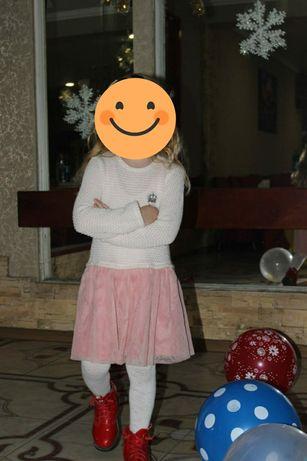 Платье с шифоновой юбкой