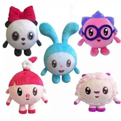 Малышарики, мягкие игрушки, Нюшенька, Крошик, Ежик, Пандочка, Барашек