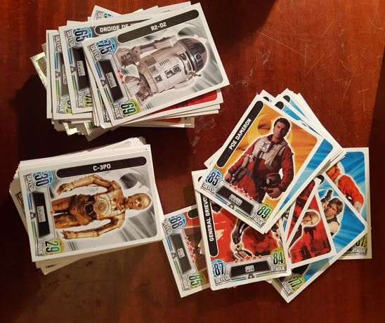 165 cartas Star Wars