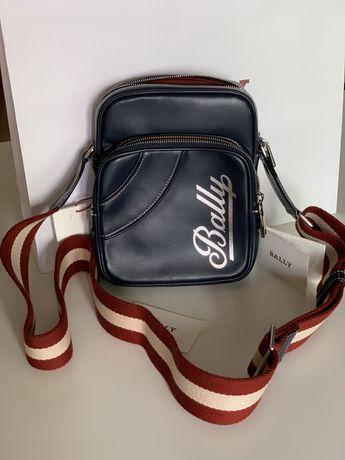 Мужкая кожаная сумка Bally оригинал!
