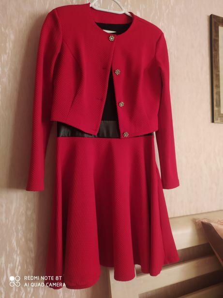 Костюм женский платье+пиджак, размер 44-46