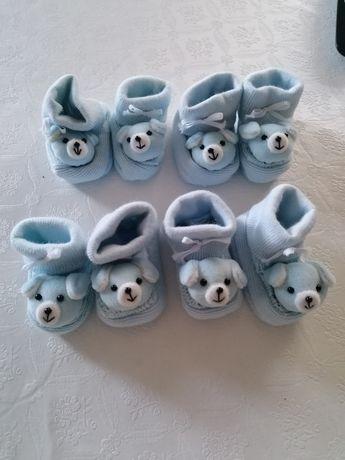 Botinhas de bebé fofinhas com cão NOVOS