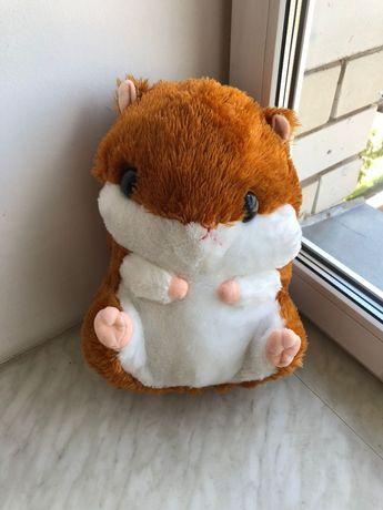 Мягкая игрушка хомяк ( с карманом для пледа) ,новый