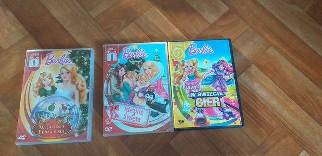 Lalka Barbie-3 filmy dvd