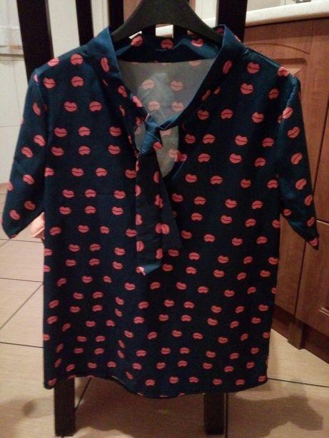 Koszula, bluzka w usteczka rozm. S/M