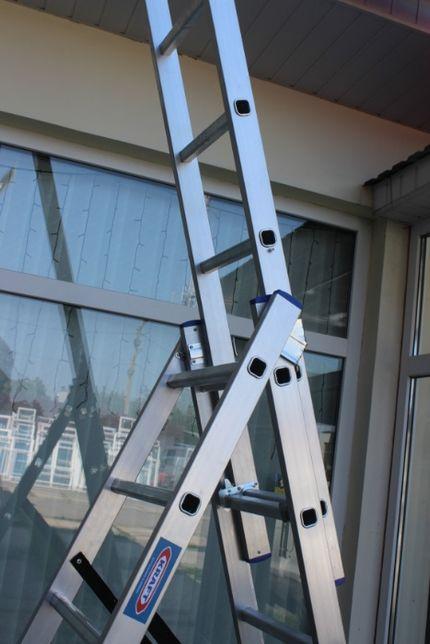 Лестница - стремянка KRAFT 3x7, 3x8 , 3x9, 3x10, 3x12 алюминий GERMANY